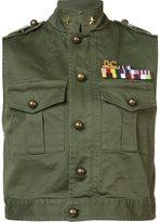 DSQUARED2 'Golden Arrow' sleeveless jacket - women - Cotton/Spandex/Elastane - 44