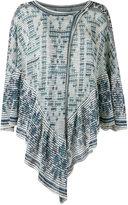 Cecilia Prado knit poncho - women - Viscose/Acrylic/Lurex - One Size