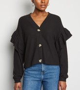 New Look Brushed Fine Knit Frill Cardigan