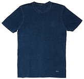 Denham Signature Crew Neck Bubble 1-year Wash T-shirt, Blue