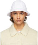 Sjyp White Terry Logo Bucket Hat