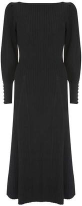 Mint Velvet Black Balloon Midi Dress