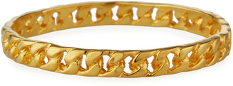 Kenneth Jay Lane Polished Gold Chain Link Bangle