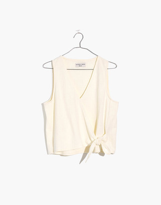 Madewell Texture & Thread Wrap-Tie Tank Top