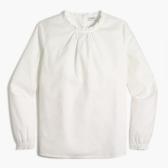 J.Crew Top with ruffled neck and sleeves