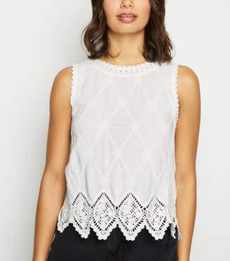 New Look Lattice Back Crochet Top