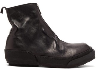 Guidi Horse Zip Grained-leather Boots - Black