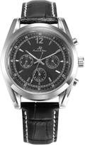 K&S KS KS173 Imperial Series Men's Day Date Automatic Mechanical Leather Band Wrist Watch