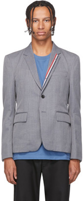 Thom Browne Grey RWB Stripe Unconstructed Blazer