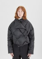 Pringle Cropped Quilted Puffer Jacket Black Size: UK 8