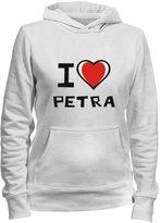 Idakoos I love Petra - Female Names - Women Hoodie