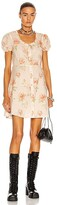 Thumbnail for your product : R 13 Babydoll Mini Dress in Beige