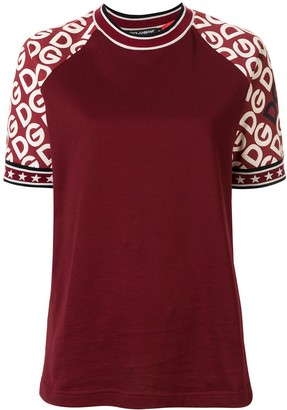 Dolce & Gabbana logo-print sleeves T-shirt