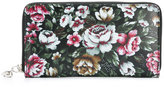 Alexander McQueen floral print skull charm wallet - women - Leather - One Size