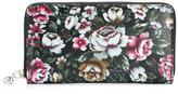 Alexander McQueen floral print skull charm wallet
