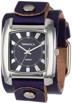 Nemesis Women's PLGB049PL Sunshine Collection Purple on Purple Leather Band Watch