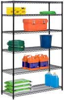 Honey-Can-Do Black 6-Tier Steel Adjustable Storage Shelving Unit