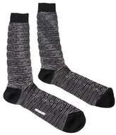 Missoni Gm00cmu5244 0006 Black/white Knee Length Socks.