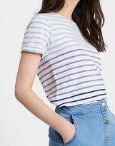 Joules Women's Nessa Jersey T Shirt Top in 100% Cotton in Blue Ombre Stripe