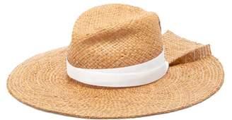 Lola Hats First Aid Back-pleat Raffia Hat - Womens - Brown