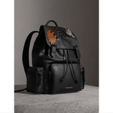 Burberry The Large Rucksack in Leather with Beasts Motif