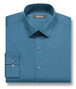 Kenneth Cole Reaction Men's Azure Long Sleeve Slim Fit Dress Shirt
