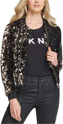 DKNY Sequined Bomber Jacket