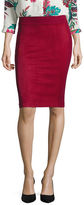 Liz Claiborne Faux-Suede Pencil Skirt