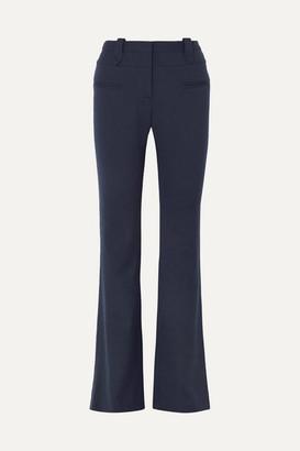 Altuzarra Serge Wool-blend Pique Bootcut Pants - Navy