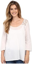 Stetson Solid Voile Long Sleeve Peasant Top