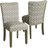HomePop Finley Parson Dining Chair 2-piece Set