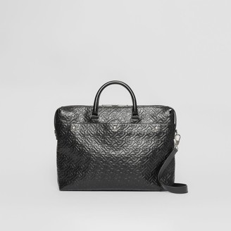 Burberry Triple Stud Monogram Leather Briefcase