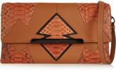 Christian Louboutin Rougissime Arizona python-paneled textured-leather clutch