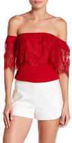 Socialite Lace Off-the-Shoulder Blouse