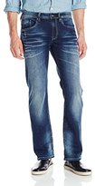 Buffalo David Bitton Men's King Slim Boot Cut Jean in Giller