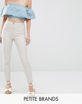 Missguided Petite Vice High Waisted Coated Jeans