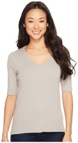 Lilla P Elbow Sleeve V-Neck Women's Clothing