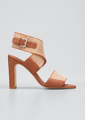 Loro Piana Kalahari Crisscross Ankle Sandals