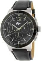 Lacoste Men's Darwin 2010743 Antique Black Leather Quartz Watch