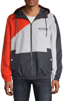 Members Only Colorblock Windbreaker Jacket