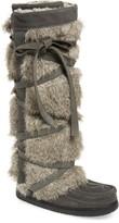 Manitobah Mukluks Tall Wrap Faux Fur & Shearling Boot
