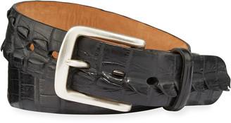 W.KLEINBERG W. Kleinberg Men's American Alligator Tail Belt