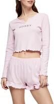 Topshop Honey Thermal Short Pajamas