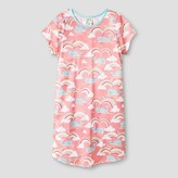 Nite Nite Munki Munki Girls' Nightgowns Short Sleeve Coral