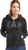 Gap Metallic logo zip hoodie