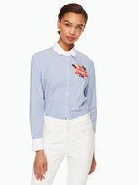 Kate Spade Tromp loeil rose shirt