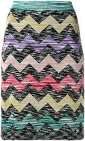 Missoni zigzag print straight skirt