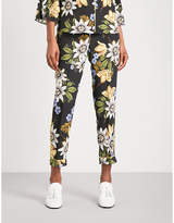 Erdem Ginnie cropped mid-rise silk-crepe de chine trousers
