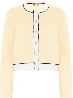 Marni Cropped cotton-blend cardigan