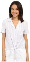 Equipment Short Sleeve Keira Tie Front